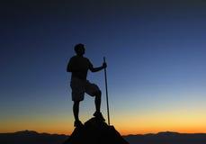 Salida del sol superior de la montaña Foto de archivo libre de regalías