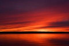 Salida del sol superior de la península de Michigan Fotos de archivo