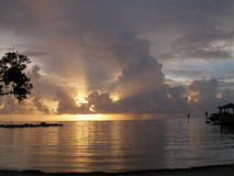 Salida del sol tempestuosa 2 fotos de archivo libres de regalías