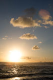Salida del sol tropical Fotos de archivo libres de regalías