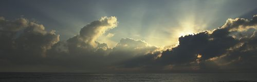 Salida del sol tropical Foto de archivo