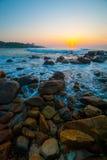 Salida del sol tropical hermosa Fotos de archivo libres de regalías