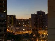 Salida del sol urbana   Imagen de archivo libre de regalías