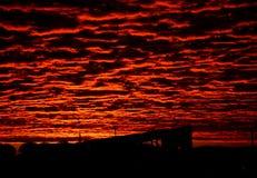 Salida del sol urbana Imagenes de archivo