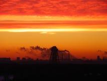 Salida del sol urbana Foto de archivo libre de regalías