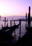 Salida del sol Venecia, Italia Imagen de archivo libre de regalías