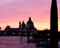 Salida del sol Venecia, Italia Fotografía de archivo libre de regalías