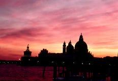 Salida del sol Venecia, Italia Foto de archivo