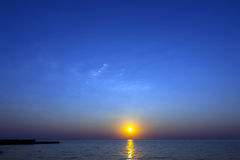 Salida del sol vibrante Foto de archivo libre de regalías