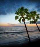Salida del sol y océano Fotografía de archivo libre de regalías