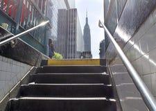 Salida del subterráneo de la avenida de NYC 8vo Foto de archivo