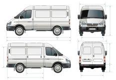 Salida del vector/furgoneta del cargo stock de ilustración