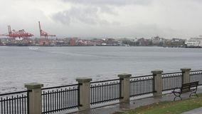 Salida plana del flotador, Vancouver 4K UHD almacen de metraje de vídeo