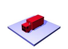 Salida un objeto del diagrama de la cadena de suministro de la logística Fotografía de archivo