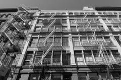 Salidas de incendios clásicas en SOHO NYC Imagenes de archivo