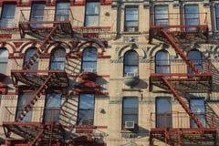 Salidas de incendios de Nueva York Foto de archivo