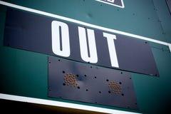 Salidas del marcador del béisbol imagenes de archivo
