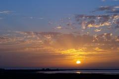 Salidas del sol y puesta del sol Fotografía de archivo libre de regalías