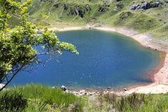 Saliencia& x27;s lake full of water in Asturias Stock Images