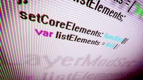 Arty Coding in Extreme Close-up stock illustration