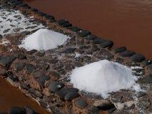 Salina del Carmen salt evaporation ponds Royalty Free Stock Photography