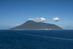 Salina and Filicudi from Lipari royalty free stock photos