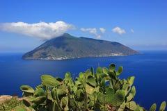Salina island. In eolie sicily Stock Photos