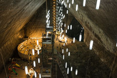 Salina Turda Salt Mine Fotografie Stock Libere da Diritti