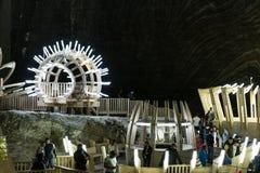 Salina Turda Salt Mine Royaltyfria Bilder
