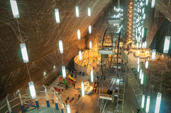 Salina Turda Salt Mine Royalty-vrije Stock Fotografie