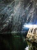 Salina Turda Salt Mine. Lake in Salt Mine Gallery View Salina Turda in Romania Royalty Free Stock Photography