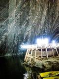 Salina Turda Salt Mine. Lake in Salt Mine Gallery View Salina Turda in Romania Royalty Free Stock Images