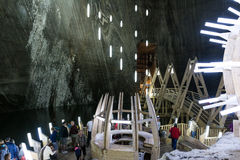 Salina Turda Salt Mine Stock Photo