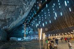 Salina Turda salt mine in Romania stock photography