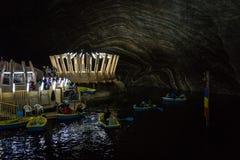 Salina Turda salt mine in Romania royalty free stock photo