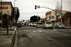 Salinas коммерчески улицы Стоковая Фотография