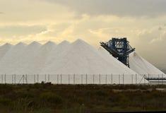 Salinas. Extraction salt in estuary Salinas in Santa Pola, Alicante Royalty Free Stock Image