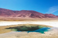 Salinas in Argentina. Ojo del Mar in a salt desert in the Jujuy Province, Argentina Stock Photography