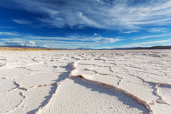 Salinas in Argentina. Salt desert in the Jujuy Province, Argentina Royalty Free Stock Photos