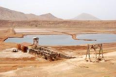 Salinas - console do Sal, Cabo Verde Imagem de Stock Royalty Free