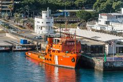 Salinas costeras de Punta del buque de la fuente imagenes de archivo