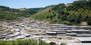 Salinas de Anana in Basque Country, Spain Royalty Free Stock Photography