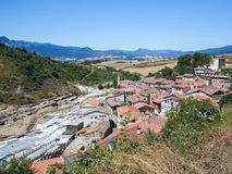 Salinas de Anana in Basque Country, Spain Royalty Free Stock Image