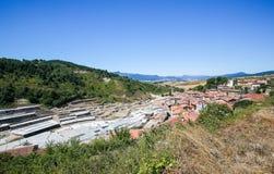 Salinas De Anana w Baskijskim kraju, Hiszpania zdjęcie royalty free