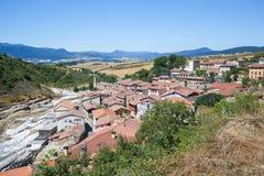Salinas De Anana w Baskijskim kraju, Hiszpania zdjęcie stock