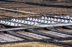 Salinas de Janubio, αλυκές σε Lanzarote, Κανάρια νησιά, Spai στοκ φωτογραφία με δικαίωμα ελεύθερης χρήσης