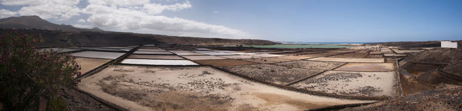 Salinas de Janubio Imagen de archivo