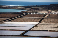 Salinas de janubio Stock Photo