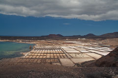 Salinas de Janubio Royalty Free Stock Photography