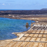 Salinas de Janubio, Lanzarote, salt refinery Stock Images